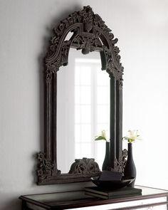 Image result for black baroque mirror