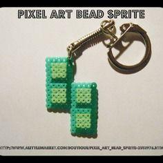 Porte clés tetris forme z - nintendo - bead sprite