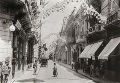 Calle Florida in 1900. Florida St. is now a pedestrian street and it is still at the heart of the shopping area of Downtown Buenos Aires. At the Southern end it terminates on Plaza de Mayo.