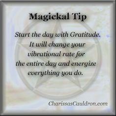 Magickal Tip - Gratitude – Charissa's Cauldron                              …