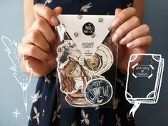 Hermione Granger stickers pack, Harry Potter gift idea, Hogwarts, Harry Potter paper goods, Harry Potter collectible, timeturner, spew badge