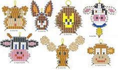Animal Seed Bead Patterns Pony Bead Patterns, Beading Patterns, Beaded Animals, Pony Bead Animals, Pony Bead Crafts, Beading For Kids, Native Beadwork, Beaded Ornaments, Pony Beads