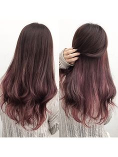 New hair color unique balayage Ideas Ombre Hair, Balayage Hair, Pink Hair, Haircolor, Hair Streaks, Hair Highlights, Hairstyles Haircuts, Pretty Hairstyles, Peekaboo Hair