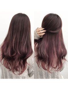 New hair color unique balayage Ideas Ombre Hair, Pink Hair, Peekaboo Hair, Rainbow Hair, Cool Hair Color, Hair Highlights, Hair Day, Hair Looks, Pretty Hairstyles