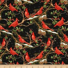 The Cardinal Rule Large Allover Pale Black Fabric
