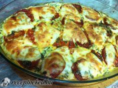 Érdekel a receptje? Kattints a képre! Küldte: Gabica Breakfast Time, Yummy Snacks, Quiche, Zucchini, Food And Drink, Vegetables, Healthy, Diet, Fimo
