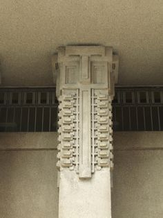 Unity Temple Detail :: Oak Park, Illinois :: 1905-8, Frank Lloyd Wright