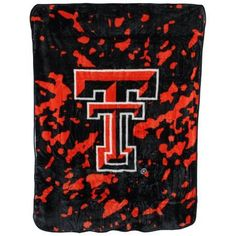 College Covers Fan Shop Throws Texas Tech Red Raiders 63 inch x 86 inch Soft Raschel Throw Blanket