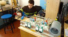 Laboratorio del Grupo de Electrónica Aplicada (GEA) donde se busca la transferencia de tecnología de las investigaciones a la industria.