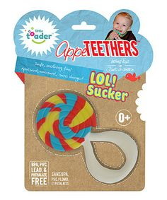 Loving this AppeTEETHERS LOL! Sucker Teething Toy on #zulily! #zulilyfinds