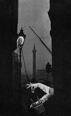 Streetlamp, 1951 - Collage by Toshiko Okanoue. S)