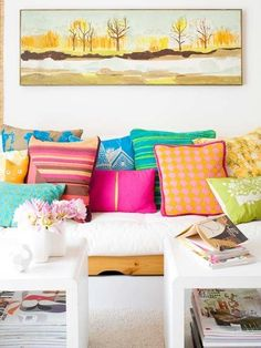 pillows. color. pattern.