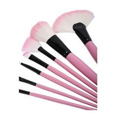 SheIn(sheinside) 32 pcs Pink Makeup Brush Kit (€17) ❤ liked on Polyvore featuring beauty products, makeup, makeup tools, makeup brushes, decor, filler and pink makeup brushes