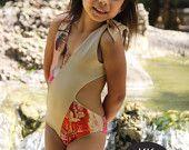 Pretty little girls one piece swimwear. In sizes 2-12.