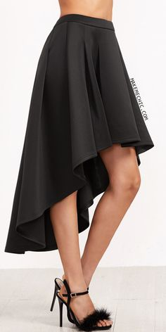 Black Box Pleated High Low Skirt