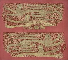 Embroidery of Leopards in the Cluny Museum. First to fourth quarter of the 14th century. Cl. 20367