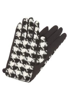 Fingerhandschuh - black/white Benetton, Casual, Black And White, Models, Shopping, Outfit, Fashion, Glove, Accessories