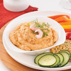 Mousse aux crevettes et crabe Antipasto, Buffet Party, Tapas Bar, Cooking Recipes, Healthy Recipes, Canapes, Hummus, Entrees, Food To Make