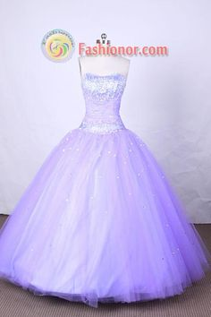 FLoor-Length Lilac Beading Quinceanera Dresses Style FA-S-098