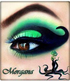 Fantasy Makeup - Disney Villain Makeover: Looks to Inspire for Halloween Disney Eye Makeup, Disney Inspired Makeup, Eye Makeup Art, Eye Art, Eyeshadow Makeup, Matte Eyeshadow, Eyeshadow Palette, Disney Villains Makeup, Peach Eyeshadow