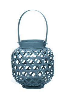 Lanterna in Bambù <BR>Blu