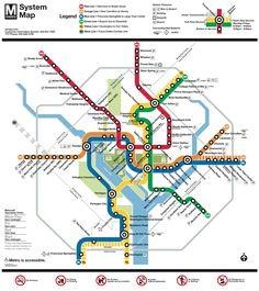 How To Use The Washington DC Metro Washington Dc And - Washington dc on a us map