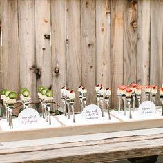 Brides.com: . An array of paired cheeses served on standing silver forks, styled by The TomKat Studio for CMAB.