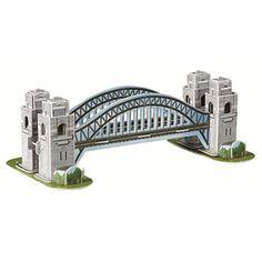 BOHS Scale Paper Miniature Model Eiffel Tower Bridge Great Wall Leaning Tower Puzzle for Children World Great Architecture Sydney Bridge. Bridge Model, Model Magic, Australia Day, 3d Puzzles, Toys For Boys, Kids Toys, Sydney Harbour Bridge, Tower Bridge, 6 Years