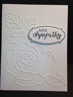 Rose Wonder, Rose Garden, Sympathy Card, Stampin' Up!, Rubber Stamping, Handmade Cards, 2016 Occasions Catalog, 2016-2017 Catalog