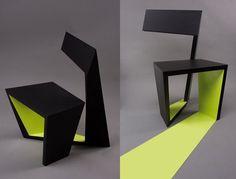 aChair, Ivo Otasevic jeune architecte Serbe du studio Otako (Belgrade & Moscou) vient de créer ce magnifique concept de chaise entre objet usuel et oeuvre d'art.