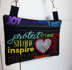 Mother Bag In The Hoop in 3 sizes. Machine Embroidery Design.