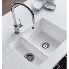 Corian moulded sinks in white with silver grey top and Quooker ...