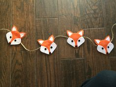 Woodland Fox Felt Garland by uniqueextras on Etsy