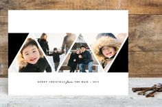 Modern Angles Holiday Photo Cards by peony papeterie at minted.com
