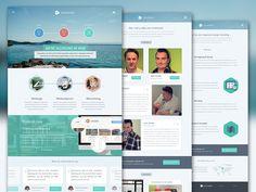 小清新企业网站 | 盒子UI