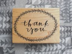 Thank you stamp by Primele on Etsy