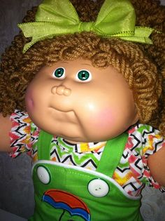 VINTAGE CABBAGE PATCH CUSTOM #14 CHUBBY GIRL DOLL POPCORN REROOT CLOTHES SHOES #Dolls