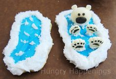 Hungry Happenings: Back Float Bear Cookies... floating along in the deep blue sea.