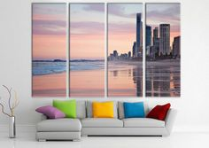 Canvas wall art cityscape - canvas prints - extra large canvas print - modern wall art - large wall art - print canvas-multi panel canvas http://etsy.me/2CyxKgc #art #print #giclee #bachelorparty #easter #largecanvasprint #canvaswallart #skylinecanvas #cityscapecanvas