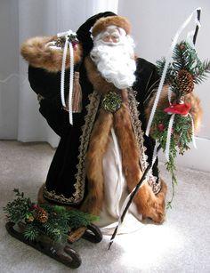 Custom Order Woodland Father Christmas Doll by FatherChristmasJoy, $325.00