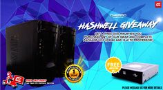 """PLEASE READ CAREFULLY. SOME OF YOUR QUESTIONS MIGHT BE ANSWERED ON POST'S DESCRIPTION!  Introducing our new Hashwell Giveaways exclusively for hashwell fans out there! GET A FREE DVD-RW WHEN YOU  PURCHASE ANY OF OUR SWAK AND COMPLETE PACKAGE V2.0 (G3260 and i3-4170 Processor)  """"FREE DELIVERY WITHIN METRO MANILA AREAS""""  Swak Hashwell Package Set - 01 Price: PHP 7050  Intel Pentium G3260 Haswell 3.3GHz Socket 1150 Dual Core Processor Asrock H81M-DGS R2.0 1150 DDR3 Motherboard 4GB DDR3 1600MHz…"""