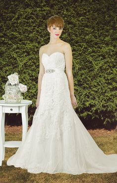 Lace Sweetheart Neckline Mermaid Wedding Dress With A Tulle Fringe Along The And Pretty Beading Scattered On Fit Flare