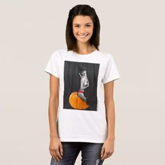 Sexy Witch Halloween Pinup Girl Ladies T-shirt - Halloween happyhalloween festival party holiday
