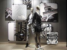 Coole Idee für komplettes schwarz-weiß Fenster