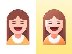 少女插图-扁平or渐变双风格~ by SA九五二七 | Dribbble Flat Design Illustration, Character Illustration, Vector Art, Vector Design, Vector Graphics, Icon Design, Design Art, Character Flat Design, Affinity Designer