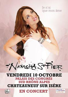 Natasha St Pier en concert, Châteauneuf-sur-Isère (26300), Rhône-Alpes