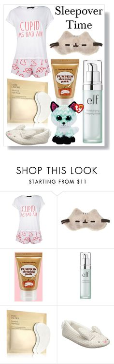 """""""Sleepover Time"""" by binghamabz ❤ liked on Polyvore featuring Boohoo, too cool for school, Estée Lauder and John Lewis"""