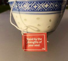 Stand by the strengths of your soul  Yogi Tea