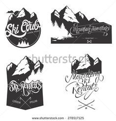 stock-vector-set-of-vintage-mountains-and-skiing-badges-design-logo-with-hand-lettering-emblem-278517125.jpg (450×470)