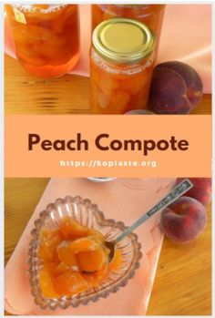 Peach compote is a simple and delicious dessert, made of whole or pieces of fruit in sugar syrup. It's very easy to make and can be eaten as a simple dessert on its own, or it goes well with ice cream, with Greek yoghurt, served with crepes or pancakes, on top of puddings, etc. #peachcompote #summerfruit #stonefruit #peaches #veganrecipes Healthy Desserts, Easy Desserts, Delicious Desserts, Dessert Recipes, Greek Recipes, Vegan Recipes, Types Of Desserts, Simple Dessert, Vegane Rezepte